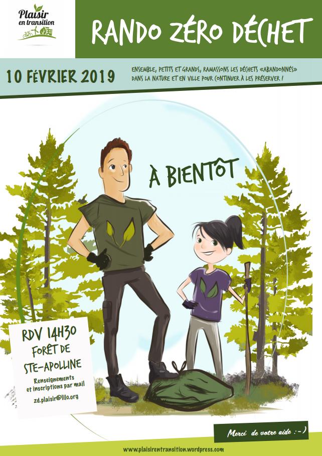 Rando Zéro Déchet Forêt de Ste Appoline (78370 Plaisir) le 10 février 2019